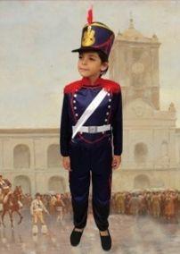 Disfraz Patrio Granadero Soldado INCLUYE SOMBRERO 35d5a6ad57e
