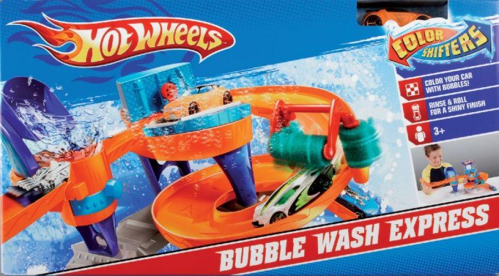 Children S Mattel Hot Wheels Tunel De Burbujas Pista Lavadero