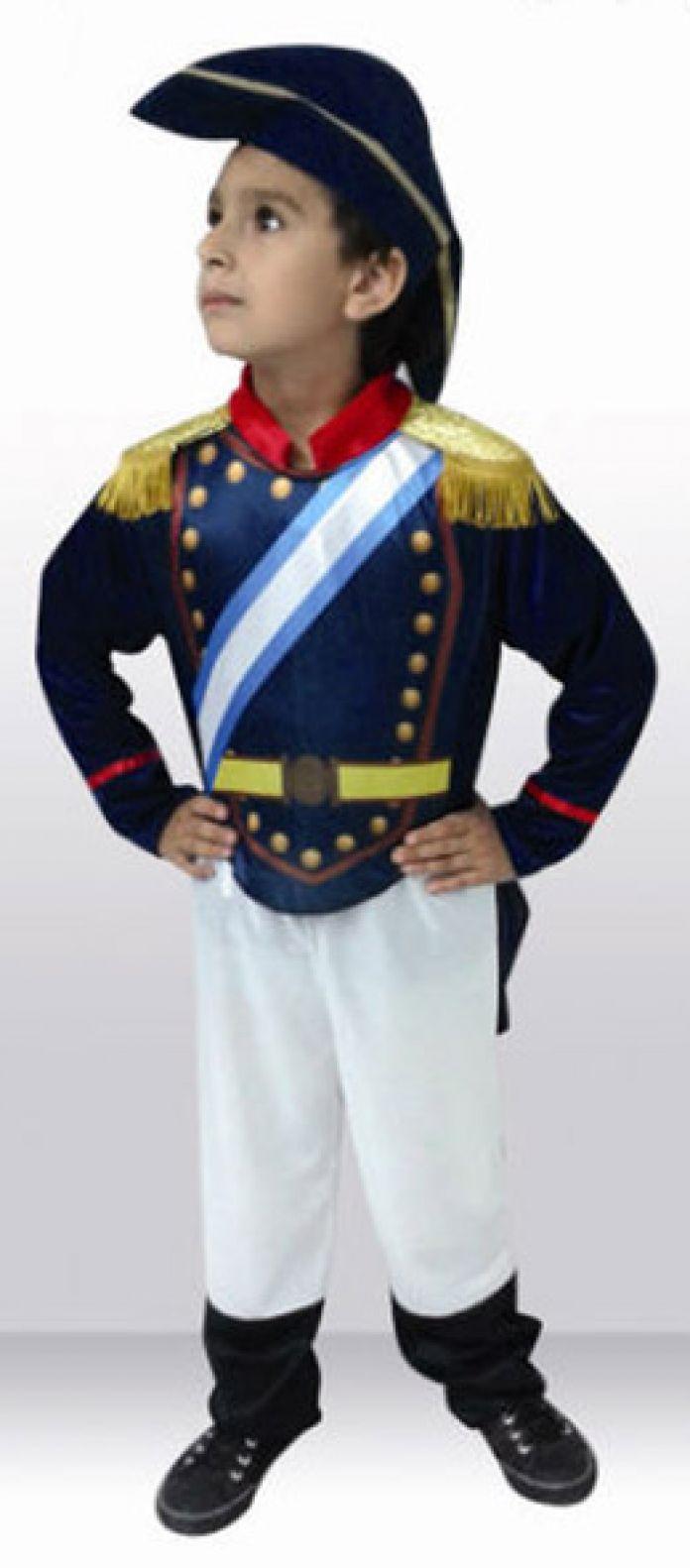 Children s - Disfraz Patrio General INCLUYE SOMBRERO ( Tipo San Martin ) 35c48ce6e30