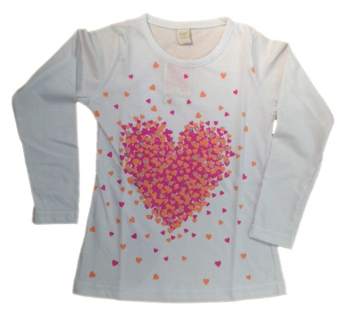 c62f207b8 Children s - Remera manga larga de nena estampada con corazones