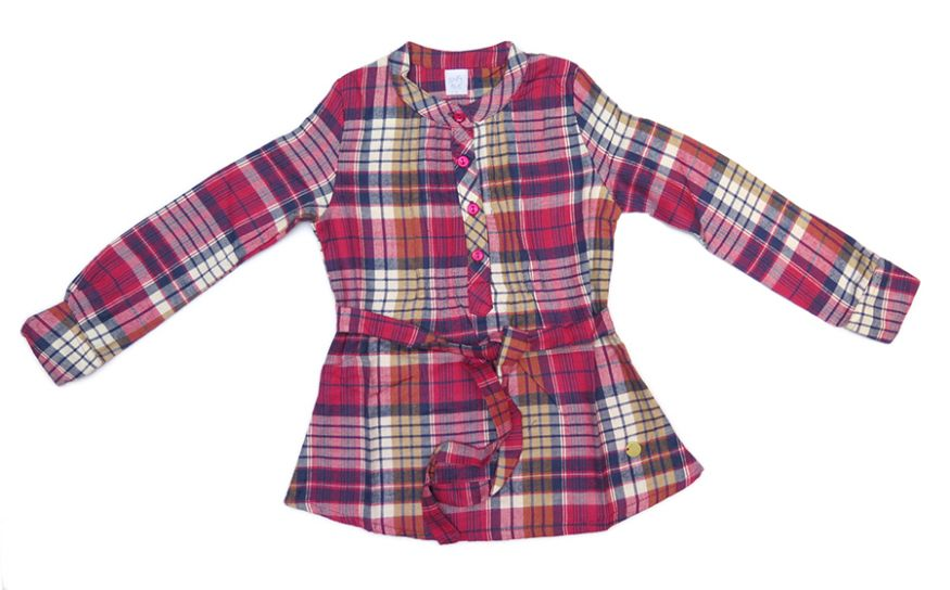 a7e578ecc Children s - Soft Red Camisa Camisola de Nena Manga Larga Viyela ...