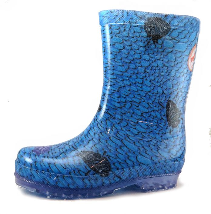 e0b767f17 Children's - Bota de Lluvia Estampada Base Transparente