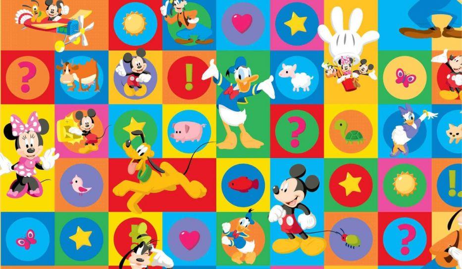alfombra antigolpes de goma eva de mickey mouse y sus amigos