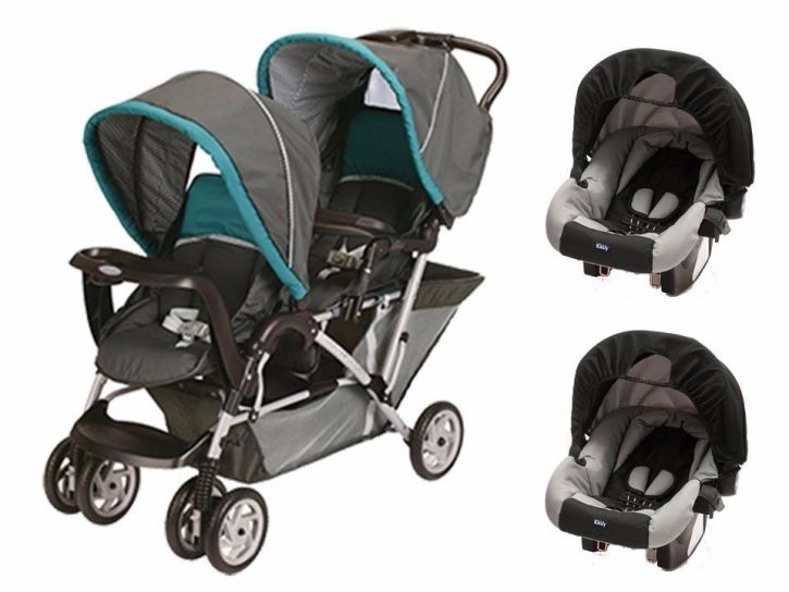 e155bdd5e Children's - Graco Cochecito doble Duo Glider + 2 huevitos con base ...