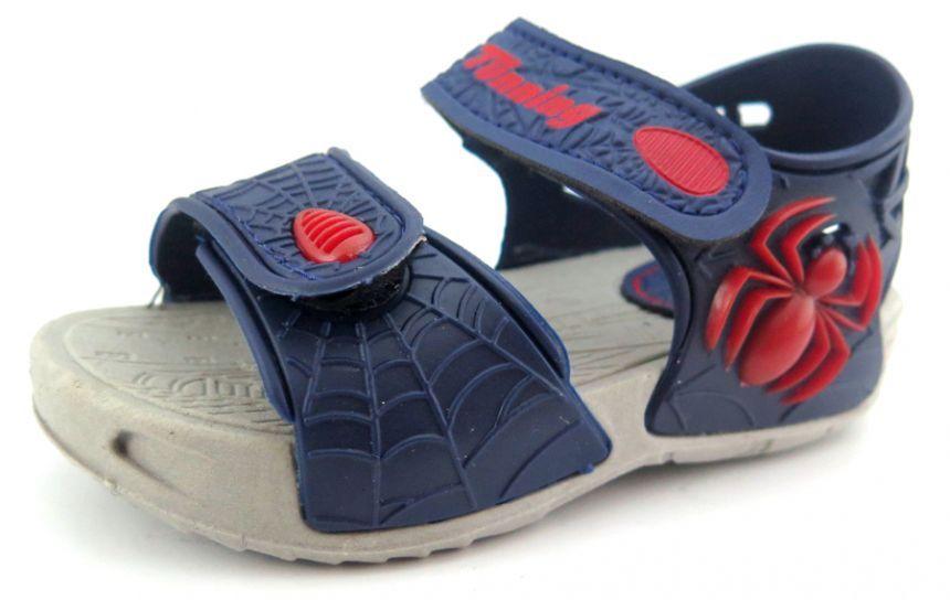 Todo Hombre Children's 2 Man Sandalias Goma Spider Araña Velcros hrsQCxtd