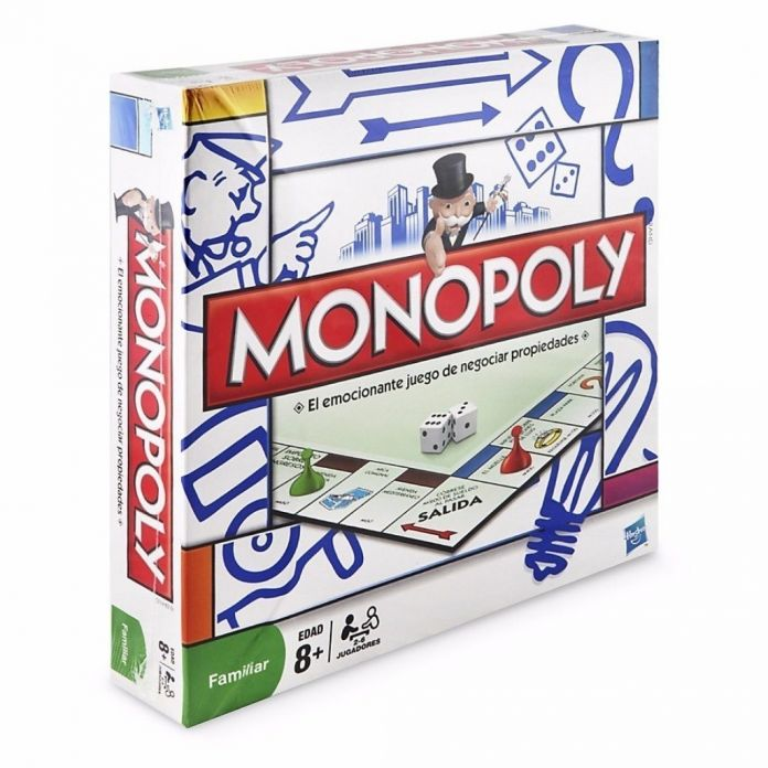 Children S Hasbro Juego De Mesa Monopoly Con Tablero Tarjetas