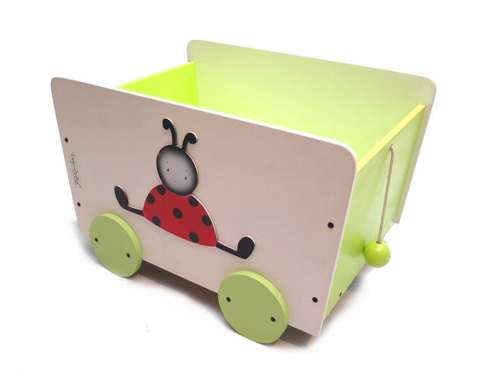 Children 39 s carrito baul guardajuguetes con ruedas - Baul para guardar juguetes ninos ...