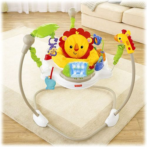 Children 39 s fisher price silla saltarina rainforest for Silla fisher price