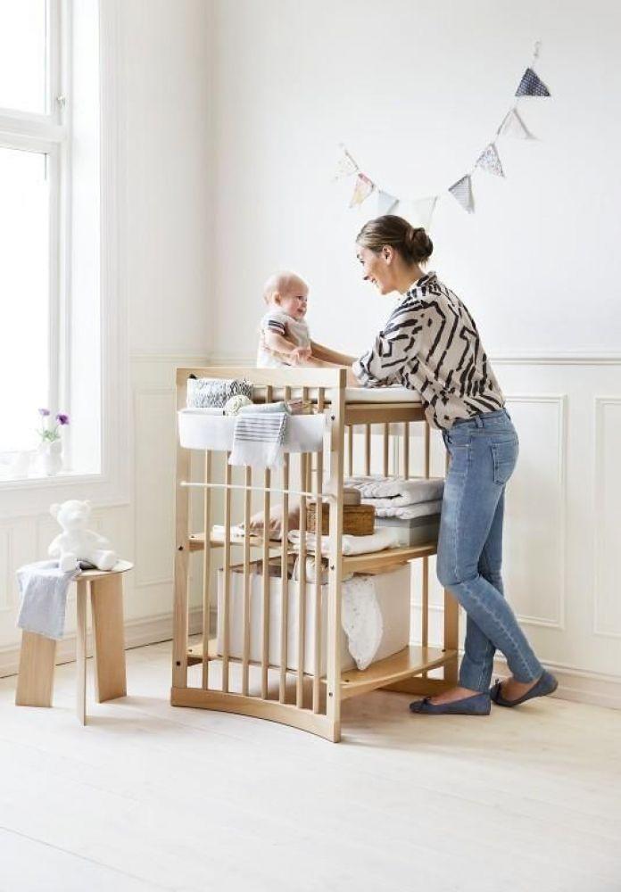 Children 39 s stokke cambiador de madera care - Colchon cambiador bebe medidas ...
